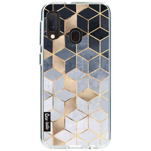 Casetastic Softcover Samsung Galaxy A20e (2019) - Soft Blue Gradient Cubes