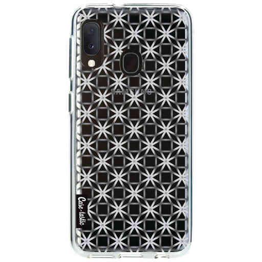 Casetastic Softcover Samsung Galaxy A20e (2019) - Geometric Lines Silver