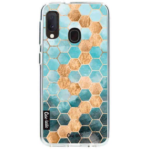 Casetastic Softcover Samsung Galaxy A20e (2019) - Honeycomb Art Blue