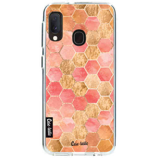 Casetastic Softcover Samsung Galaxy A20e (2019) - Honeycomb Art Coral