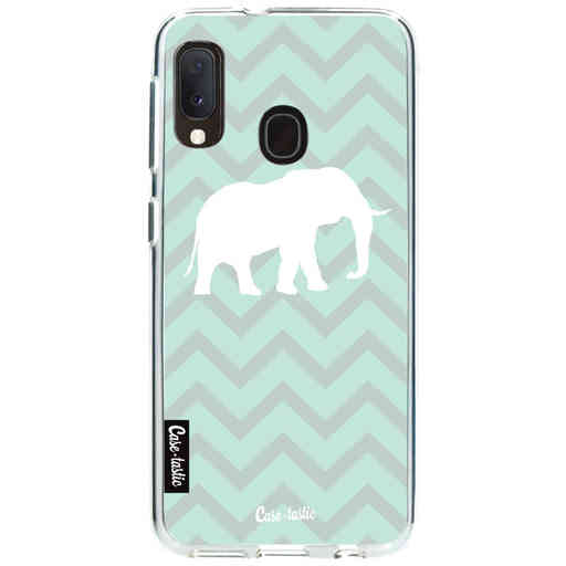 Casetastic Softcover Samsung Galaxy A20e (2019) - Elephant Chevron Pattern