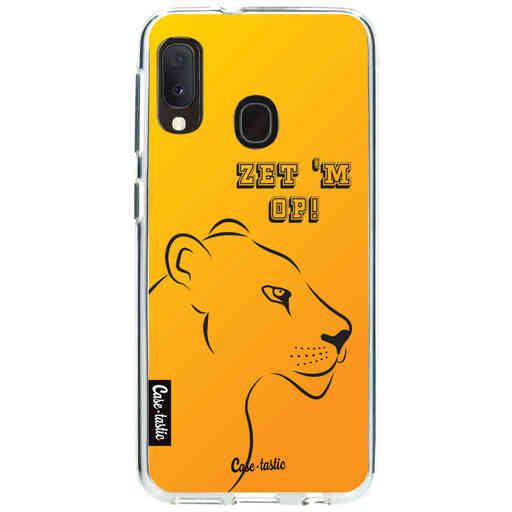 Casetastic Softcover Samsung Galaxy A20e (2019) - Oranje Leeuwinnen,  zet 'm op!
