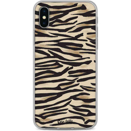 Casetastic Softcover Apple iPhone X / XS - Savannah Zebra