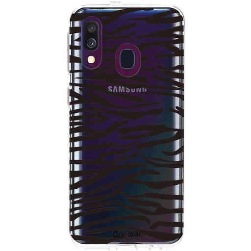 Casetastic Softcover Samsung Galaxy A40 (2019) - Zebra