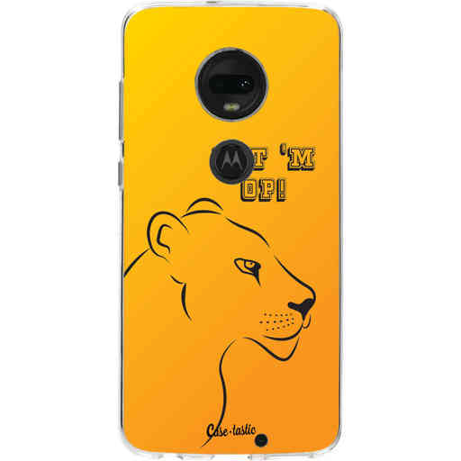 Casetastic Softcover Motorola Moto G7 / G7 Plus - Oranje Leeuwinnen,  zet 'm op!