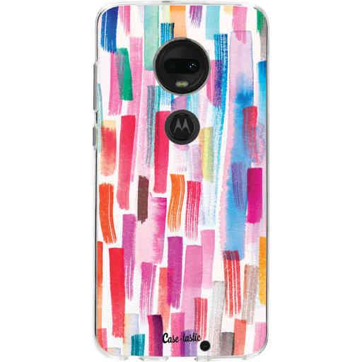 Casetastic Softcover Motorola Moto G7 / G7 Plus - Colorful Strokes