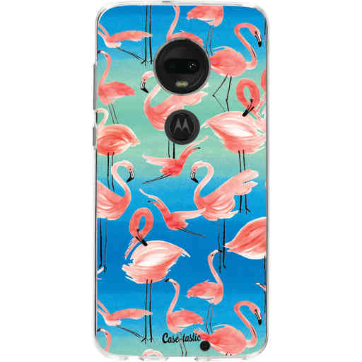 Casetastic Softcover Motorola Moto G7 / G7 Plus - Flamingo Vibe