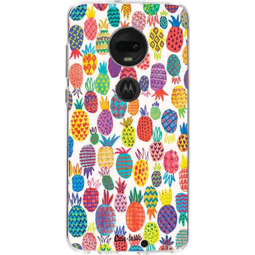 Casetastic Softcover Motorola Moto G7 / G7 Plus - Happy Pineapples