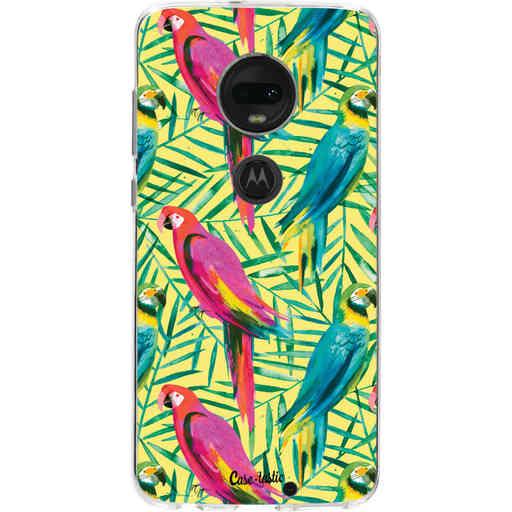 Casetastic Softcover Motorola Moto G7 / G7 Plus - Tropical Parrots