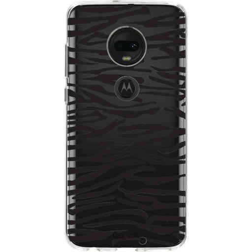 Casetastic Softcover Motorola Moto G7 / G7 Plus - Zebra