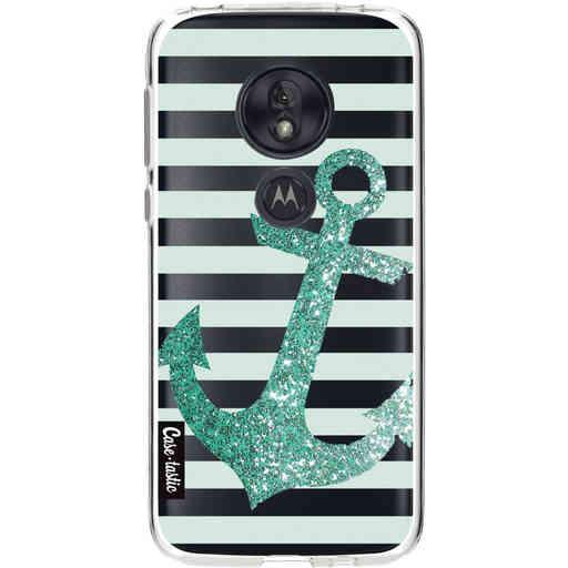 Casetastic Softcover Motorola Moto G7 Play - Glitter Anchor Mint