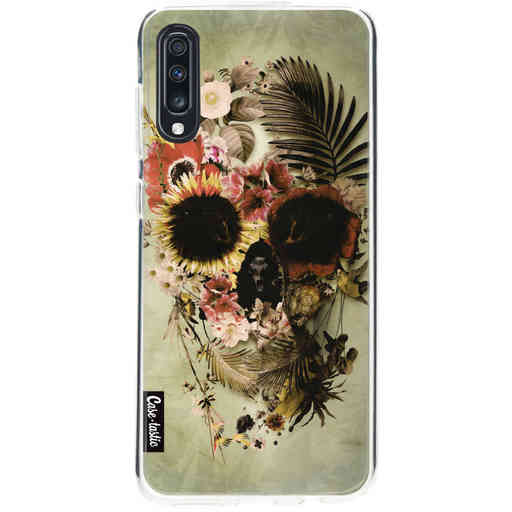 Casetastic Softcover Samsung Galaxy A70 - Garden Skull Light