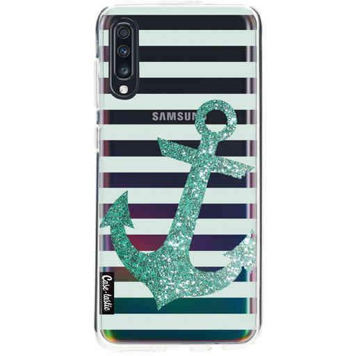 Casetastic Softcover Samsung Galaxy A70 - Glitter Anchor Mint