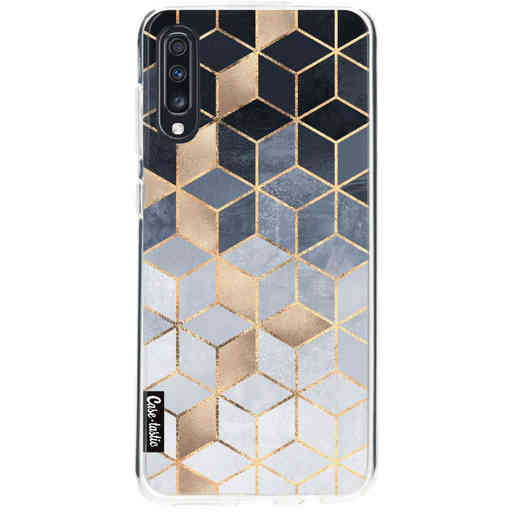 Casetastic Softcover Samsung Galaxy A70 - Soft Blue Gradient Cubes