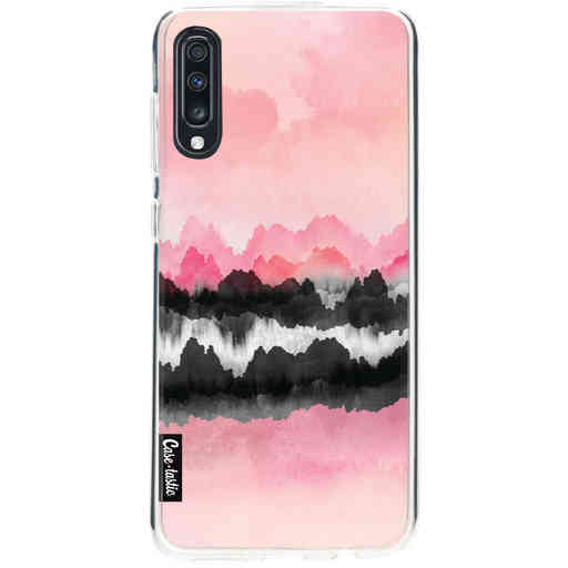 Casetastic Softcover Samsung Galaxy A70 - Pink Mountains