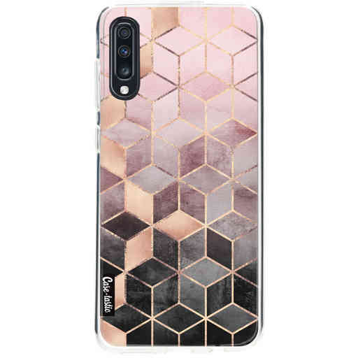 Casetastic Softcover Samsung Galaxy A70 - Soft Pink Gradient Cubes