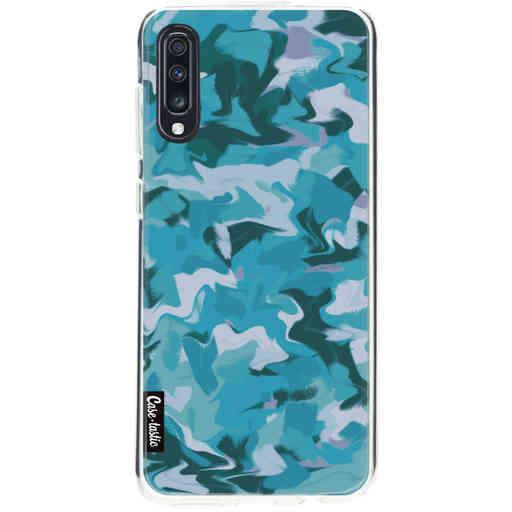 Casetastic Softcover Samsung Galaxy A70 - Aqua Camouflage