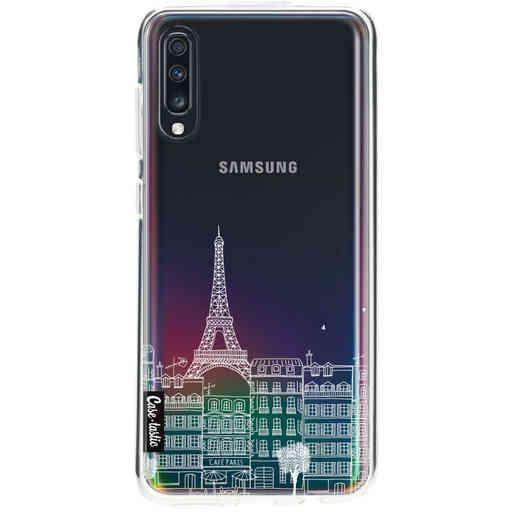 Casetastic Softcover Samsung Galaxy A70 - Paris City houses White