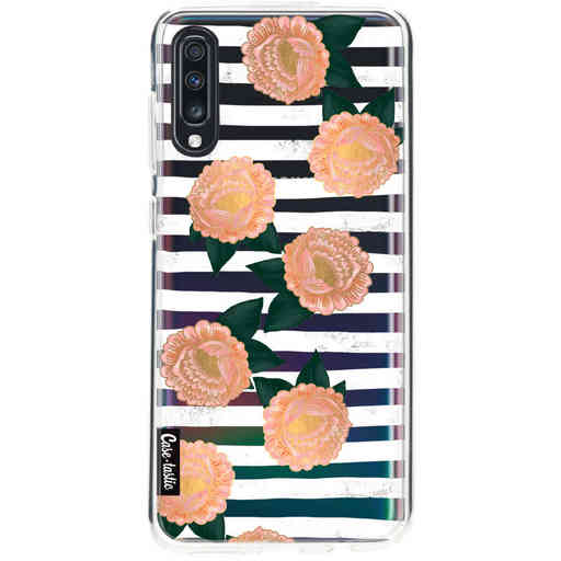 Casetastic Softcover Samsung Galaxy A70 - Striped Winter Flowers