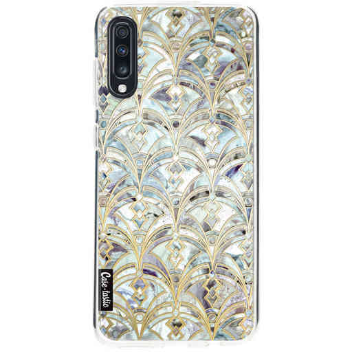 Casetastic Softcover Samsung Galaxy A70 - Mint Art Deco Marbling