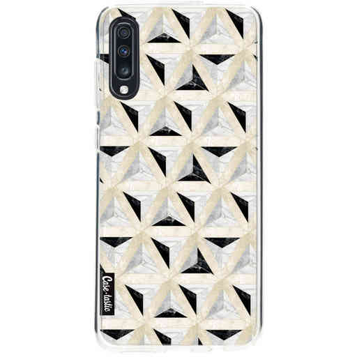 Casetastic Softcover Samsung Galaxy A70 - Marble Triangle Blocks