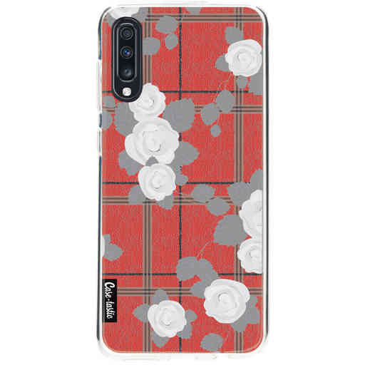 Casetastic Softcover Samsung Galaxy A70 - Flower Tartan Red