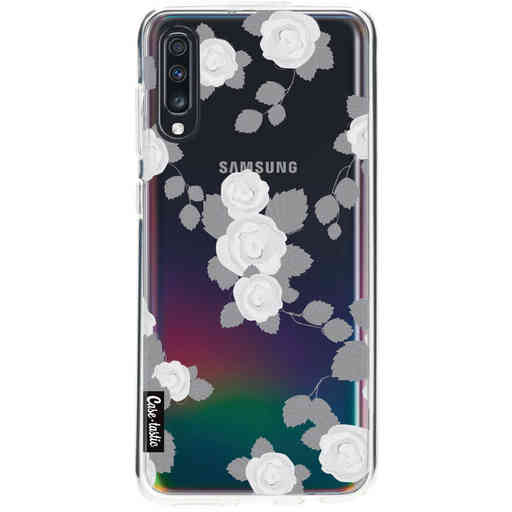 Casetastic Softcover Samsung Galaxy A70 - Grey Roses