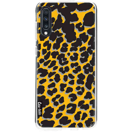 Casetastic Softcover Samsung Galaxy A70 - Leopard Print Yellow