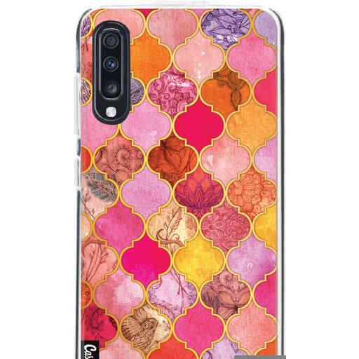 Casetastic Softcover Samsung Galaxy A70 - Pink Moroccan Tiles