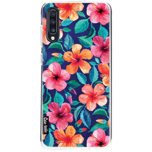 Casetastic Softcover Samsung Galaxy A70 - Colorful Hibiscus