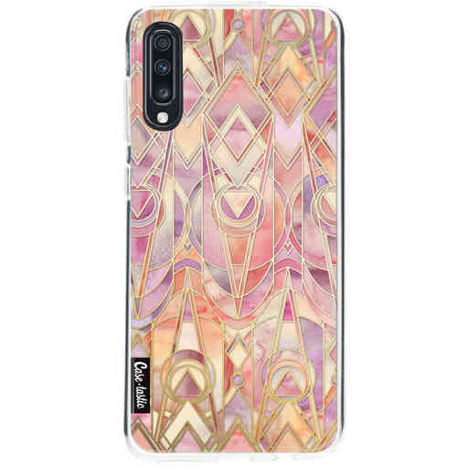 Casetastic Softcover Samsung Galaxy A70 - Coral and Amethyst Art