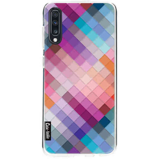 Casetastic Softcover Samsung Galaxy A70 - Seamless Cubes