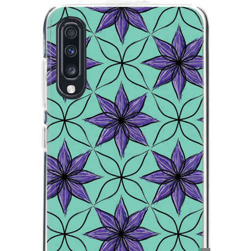 Casetastic Softcover Samsung Galaxy A70 - Statement Flowers Purple