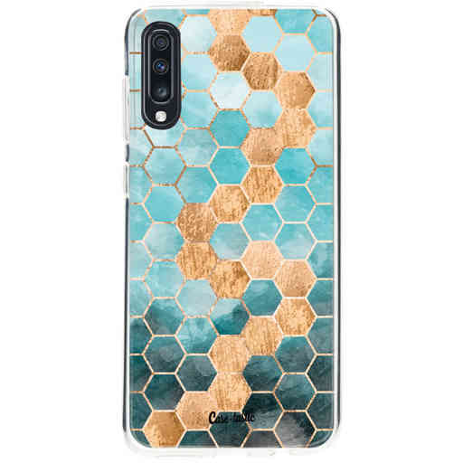 Casetastic Softcover Samsung Galaxy A70 - Honeycomb Art Blue
