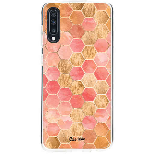 Casetastic Softcover Samsung Galaxy A70 - Honeycomb Art Coral