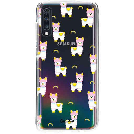 Casetastic Softcover Samsung Galaxy A70 - Rainbow Llama