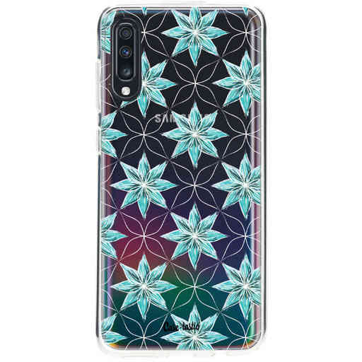Casetastic Softcover Samsung Galaxy A70 - Statement Flowers Blue