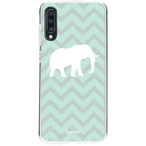 Casetastic Softcover Samsung Galaxy A70 - Elephant Chevron Pattern