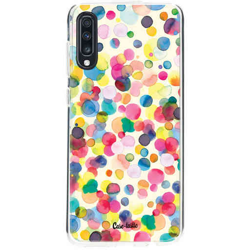 Casetastic Softcover Samsung Galaxy A70 - Watercolor Confetti