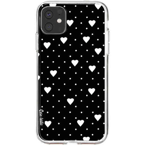 Casetastic Softcover Apple iPhone 11 - Pin Point Hearts Black