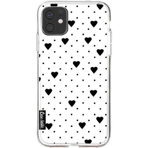 Casetastic Softcover Apple iPhone 11 - Pin Point Hearts White