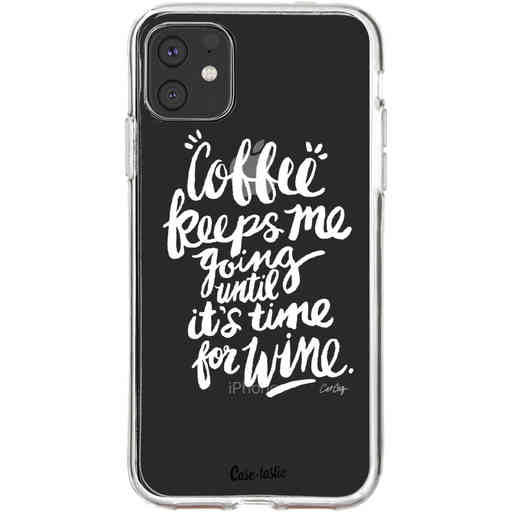 Casetastic Softcover Apple iPhone 11 - Coffee Wine White Transparent