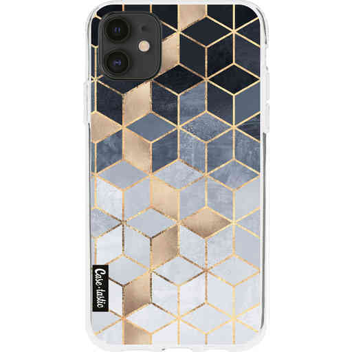 Casetastic Softcover Apple iPhone 11 - Soft Blue Gradient Cubes