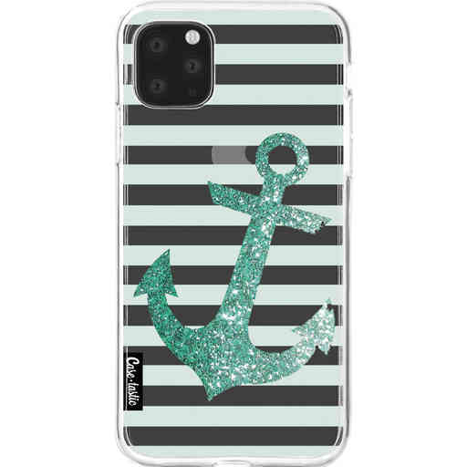 Casetastic Softcover Apple iPhone 11 Pro Max - Glitter Anchor Mint