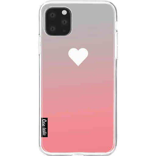 Casetastic Softcover Apple iPhone 11 Pro Max - Peach Heart Fade