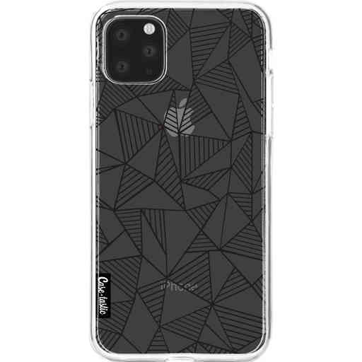 Casetastic Softcover Apple iPhone 11 Pro Max - Abstraction Lines Black Transparent