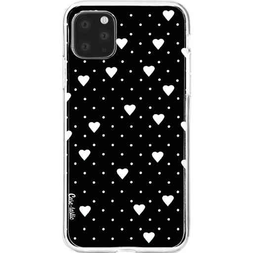 Casetastic Softcover Apple iPhone 11 Pro Max - Pin Point Hearts Black