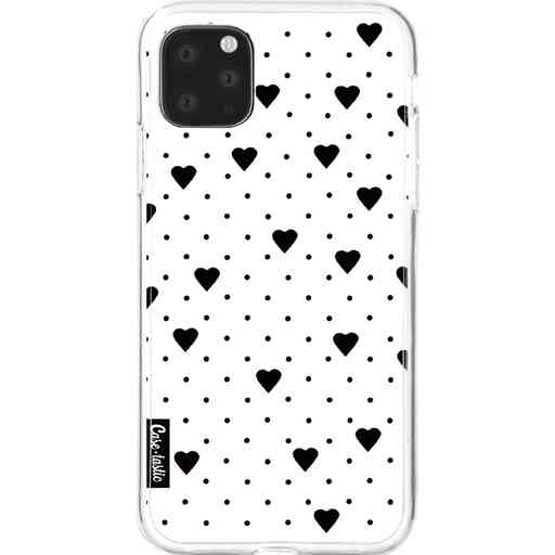 Casetastic Softcover Apple iPhone 11 Pro Max - Pin Point Hearts White