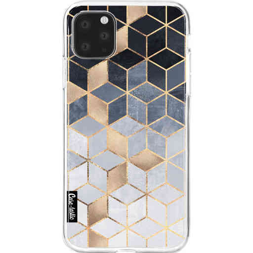 Casetastic Softcover Apple iPhone 11 Pro Max - Soft Blue Gradient Cubes