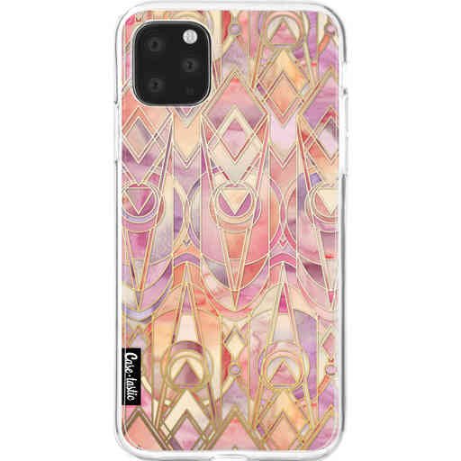 Casetastic Softcover Apple iPhone 11 Pro Max - Coral and Amethyst Art